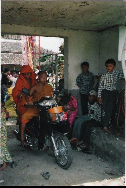 Monks on Motorcycles, Yunnan Provence, China