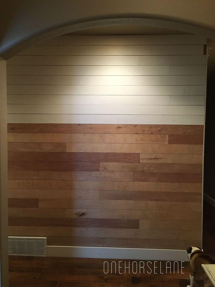 Diy Shiplap Wall Easy Cheap And Beautiful Part 1