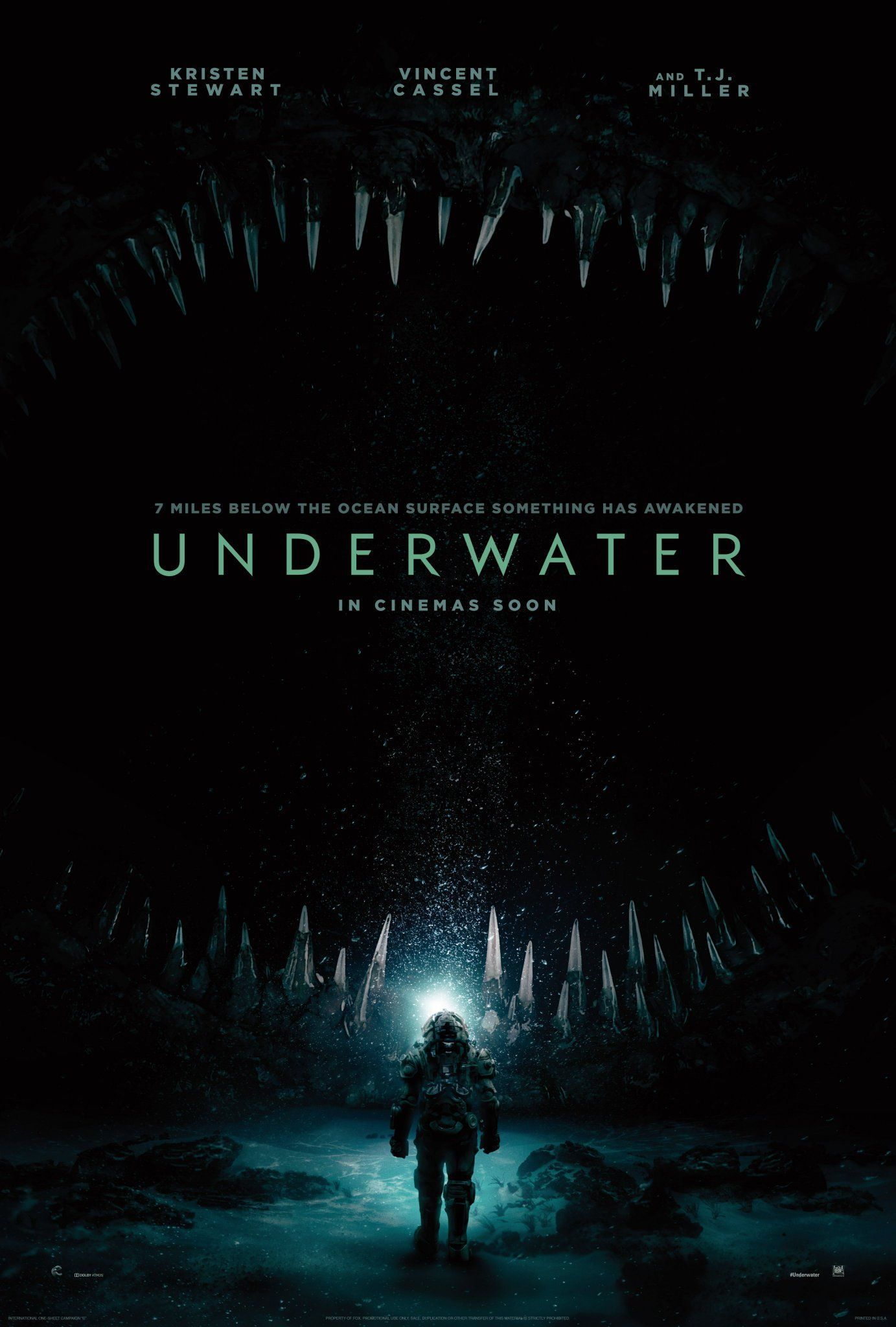 UNDERWATER 2020 Coming Soon movie poster Streaming