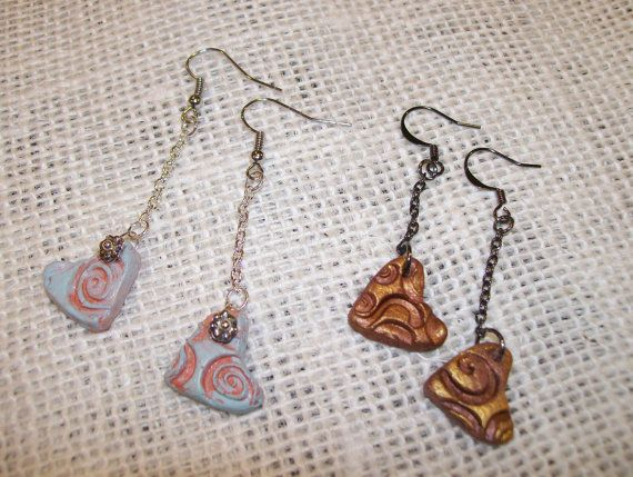 PERSONAL DIFFUSER EARRINGS Clay Heart Shaped by NonisEclecticShop, $9.50