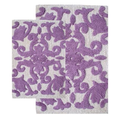 Bathroom Ideas Lilac iron gate 2 piece bath rug set | iron gates, rugs and bath rugs
