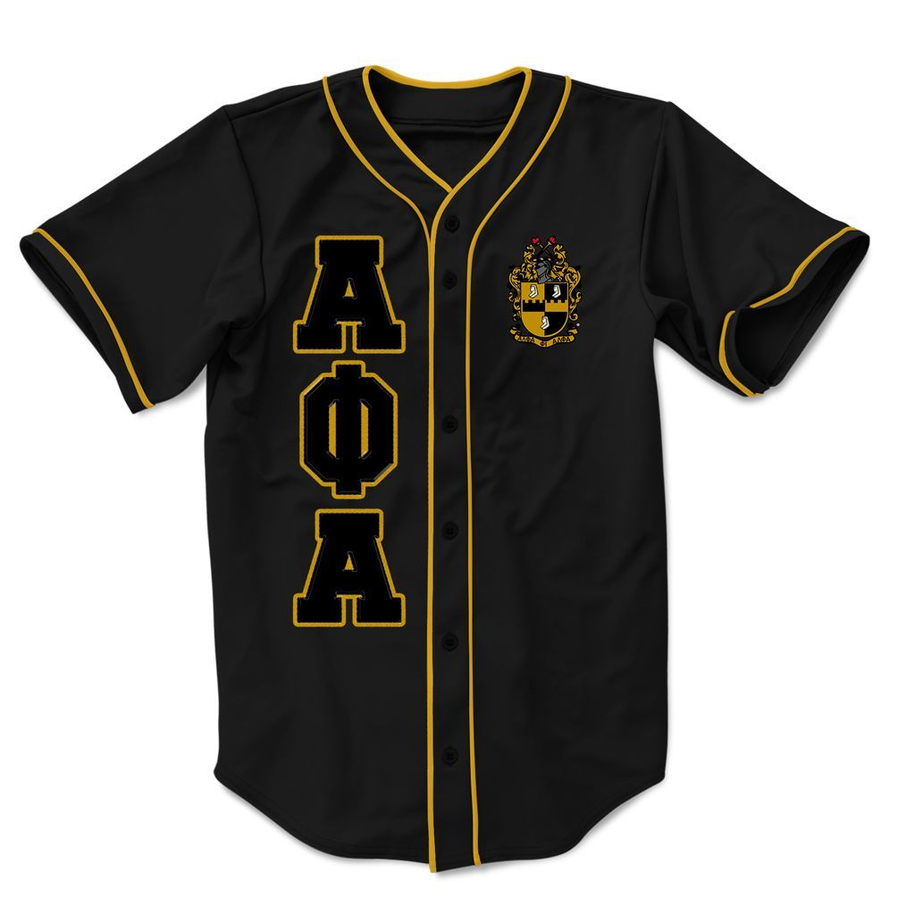 Alpha Phi Alpha Embroidered Greek Baseball Jersey Alpha Phi Alpha Paraphernalia Alpha Sigma Phi Greek Shirts