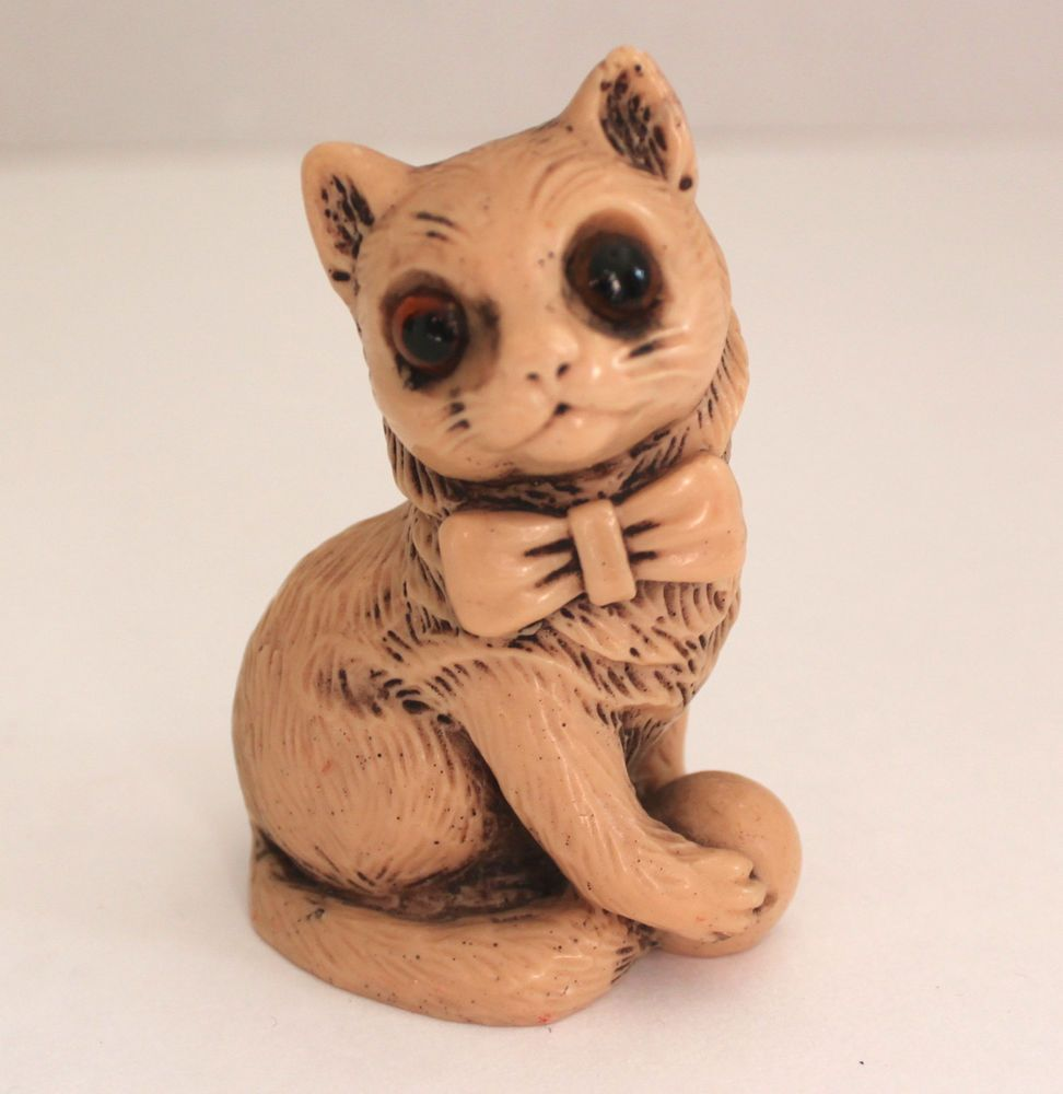 Vintage norleans resin cat figurine made in england cats pinterest