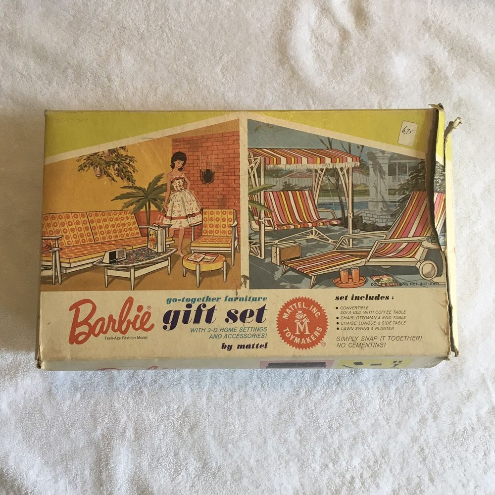 Details About Vintage Barbie Go Together Furniture Gift