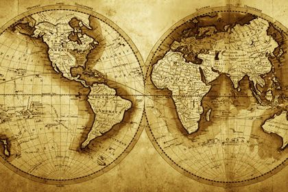 Antique world map by print a wallpaper gold theme wallpaper for antique world map by print a wallpaper gumiabroncs Gallery