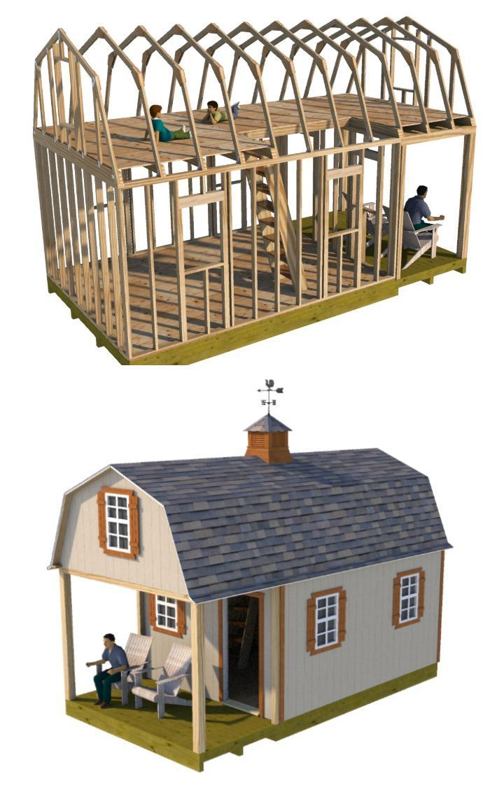 12x22 Barn Shed Plans Shed Homes Building A Shed Shed Building Plans