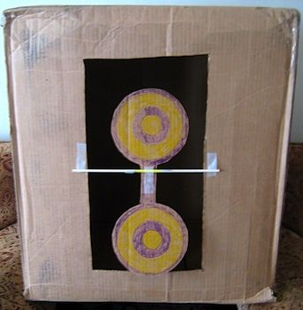 Almost Unschoolers: Cardboard Box Nerf Target