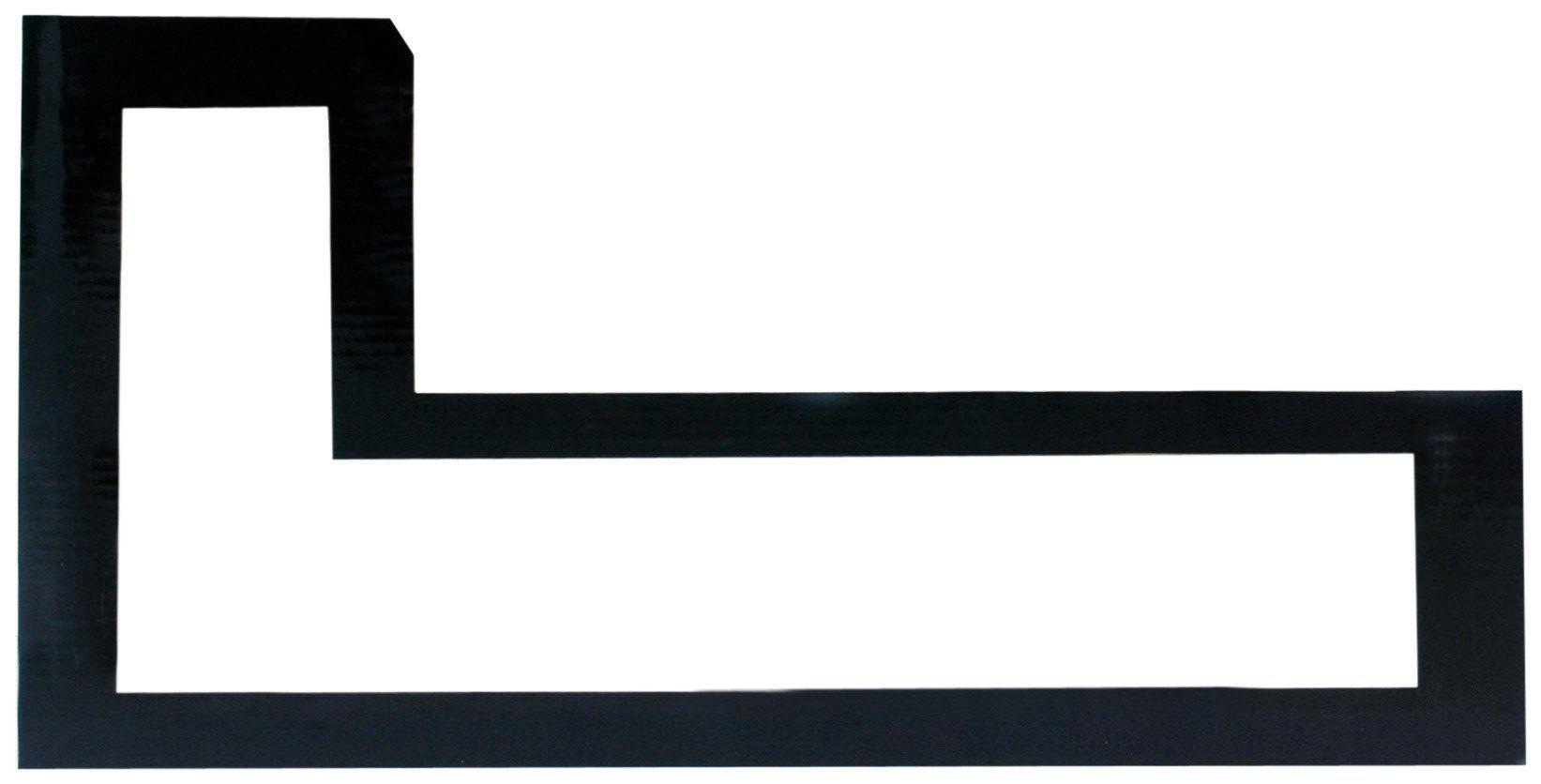 Pinnacle L-Shaped Gallery Solutions Ledge, Black