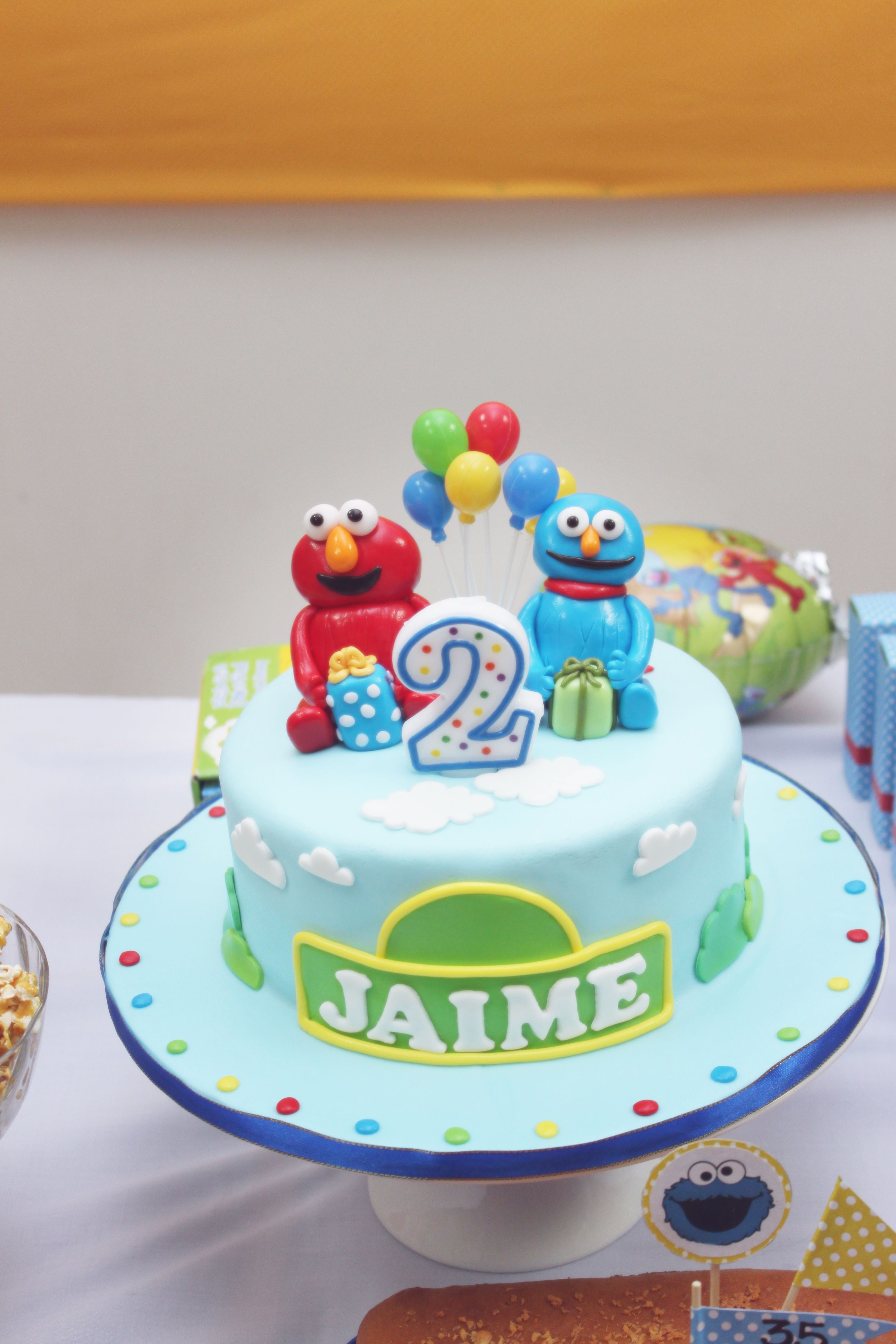 My Son 2 Years Old Elmo Theme Birthday Party The Cake