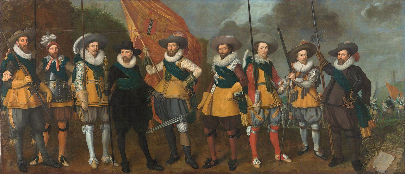 Schutters van het vendel van kapitein Abraham Boom en luitenant Oetgens van Waveren, 1623