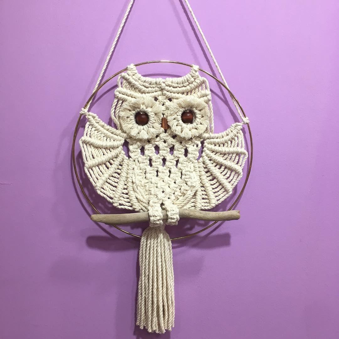 макраме фото и схемы плетения панно сова что хотели