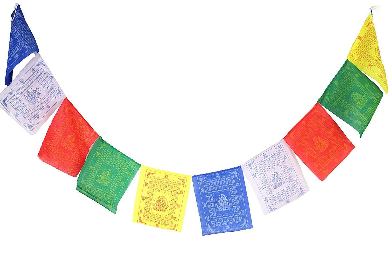 Amazon Com Nervana Tibetan Prayer Flags 9 5 X11 5 100 Cotton Premium Quality Large Roll Of 10 Flags Tibetan Prayer Flag Prayer Flags Traditional Design