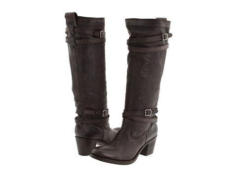 Footwear · Frye Jane Strappy Dark Brown Tumbled Full Grain ...