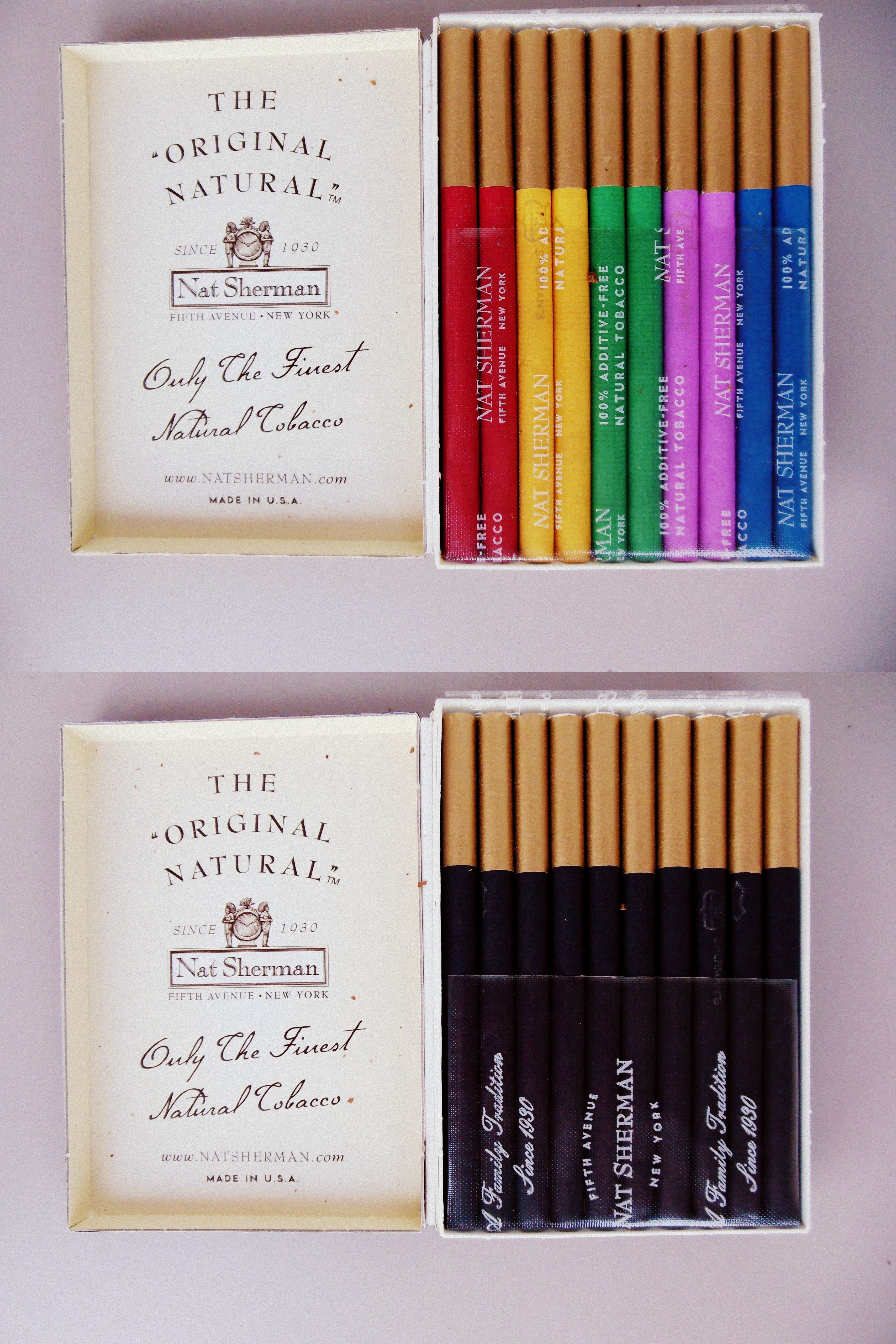 dont smoke often but when I do.....love these-Nat Sherman Cigarettes | if i could pull it off i ...