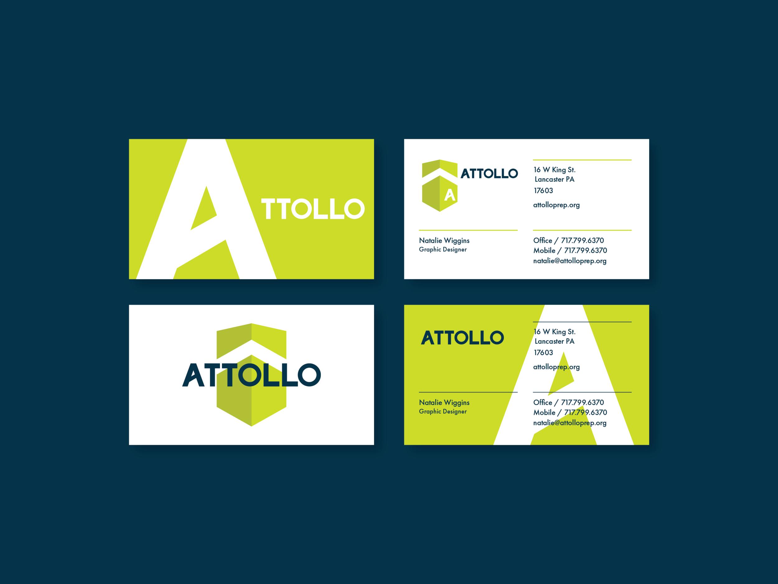 Attollo Business Card Design Design By Tim Medina Www