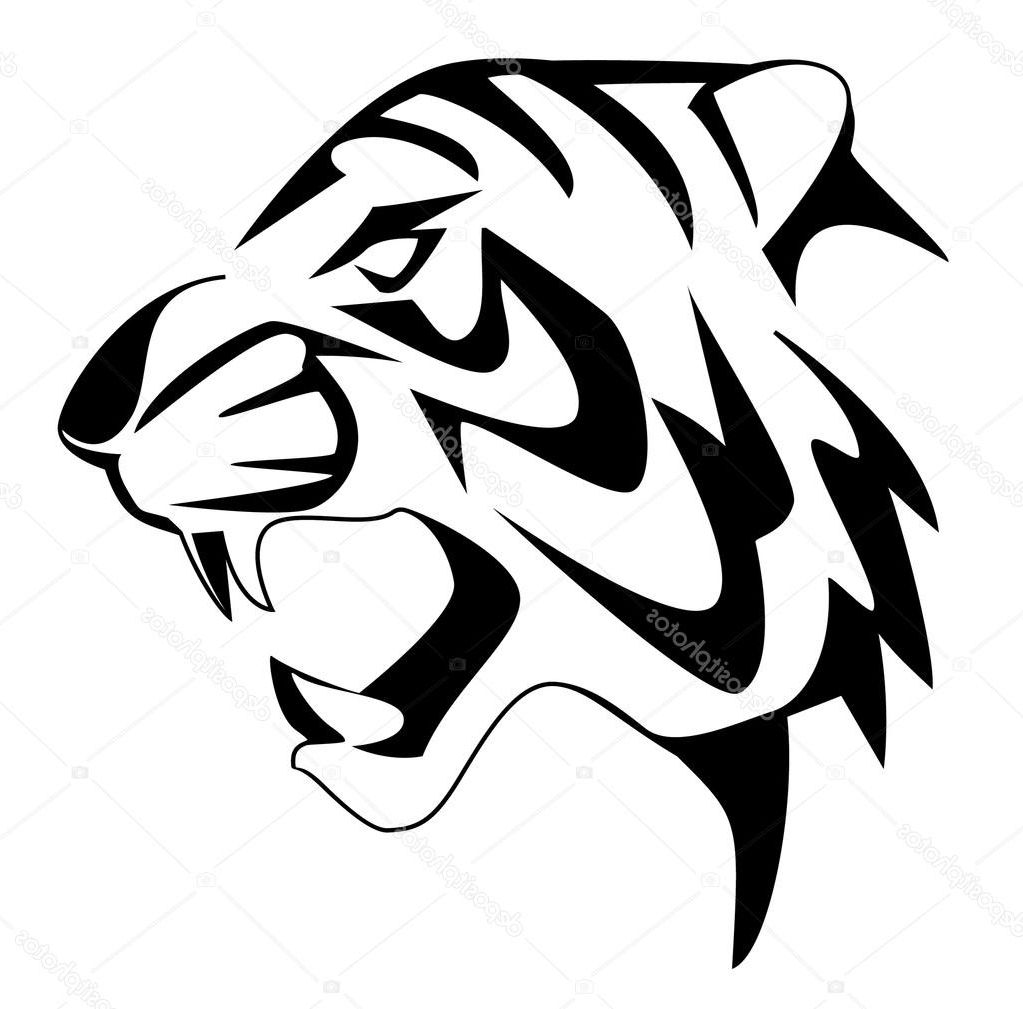 Easy Tiger Face Drawing How To Draw A Simple Face Drawing Tiger Face Drawing Tiger Art Drawing
