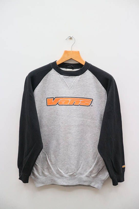 9b68fc5faf Vintage VANS Of The Wall Big Spell Streetwear Skate Gray Sweater Sweatshirts