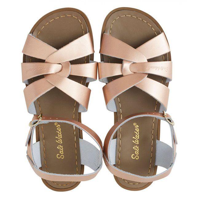 Salt Water Sandales  en cuir rose gold Rose - Chaussures Sandale