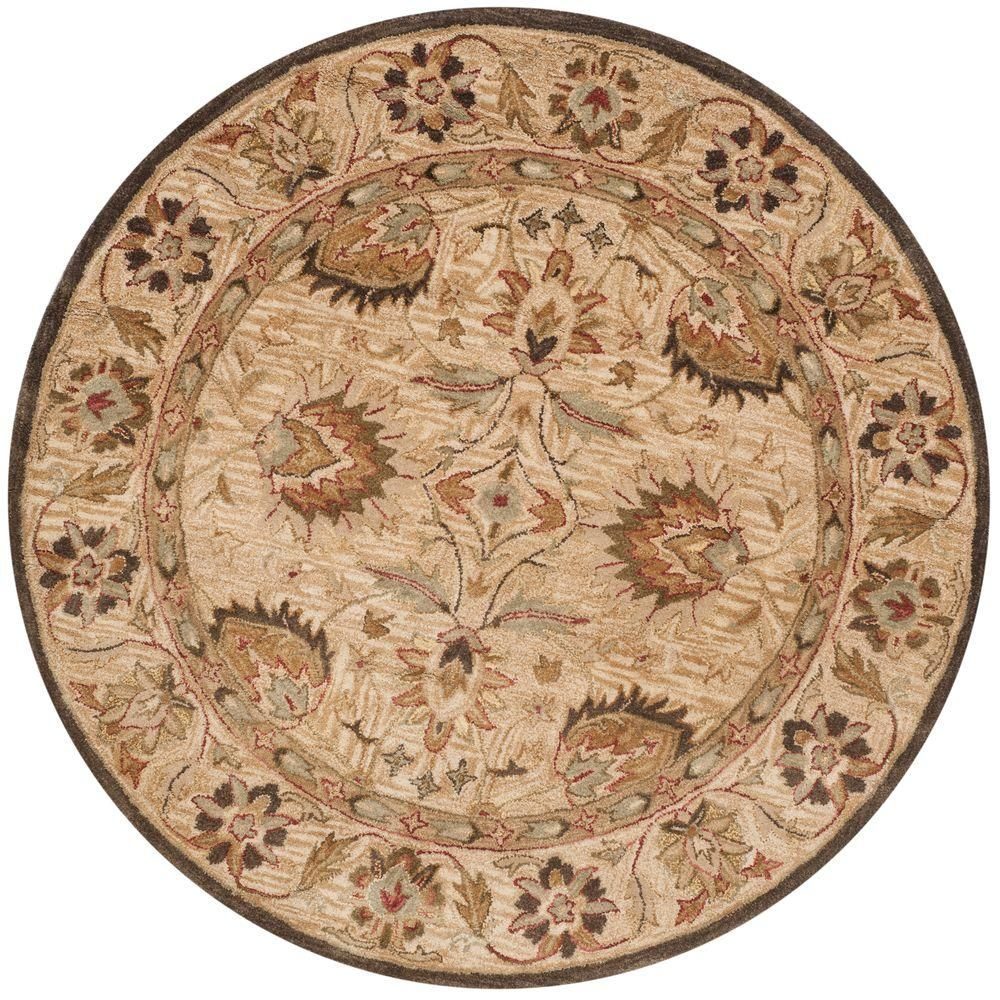Safavieh Antiquity Beige 6 Ft X 6 Ft Round Area Rug At812a 6r
