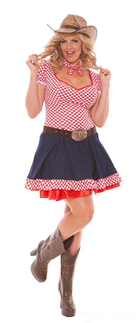PLUS SIZE SEXY HAYLOFT HONEY COWGIRL COSTUME Playtime Philly - hot halloween ideas