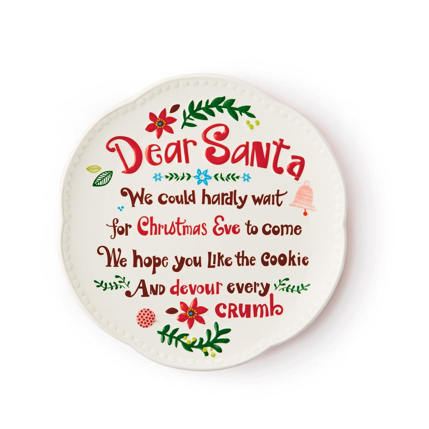 Dear Santa Cookie Plate