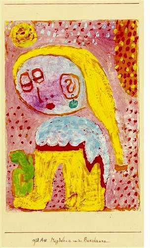 Paul Klee, magdalena before the conversion -1938 on ArtStack #paul-klee #art