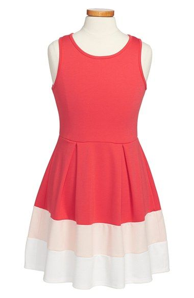 Free shipping and returns on Soprano Sleeveless Colorblock Dress (Big Girls) at Nordstrom.com. A color-blocked skirt adds plenty of mod appeal to a twirly, endearing sleeveless dress.