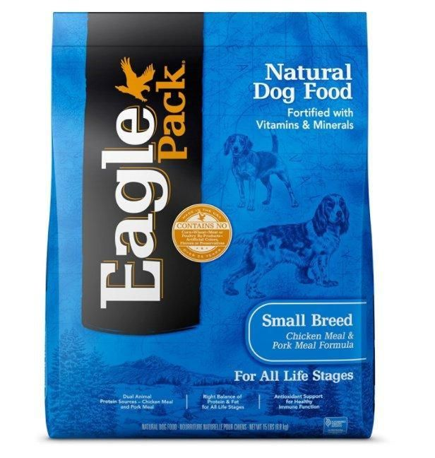 Eagle Pack Small Breed Original Chicken Pork Dry Dog Food 15lbs