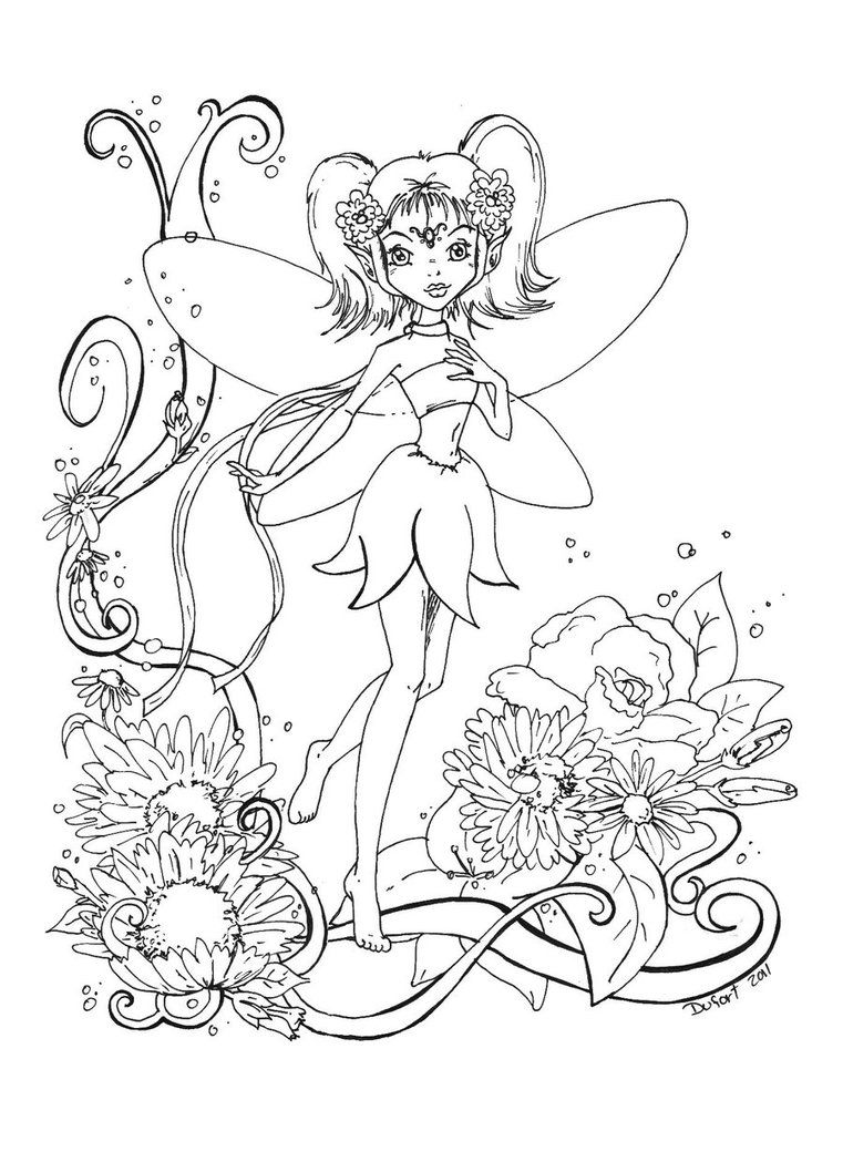 Adult coloring pages free to print fairies - Evil Fairy Coloring Pages For Adults Free Printable For Girl
