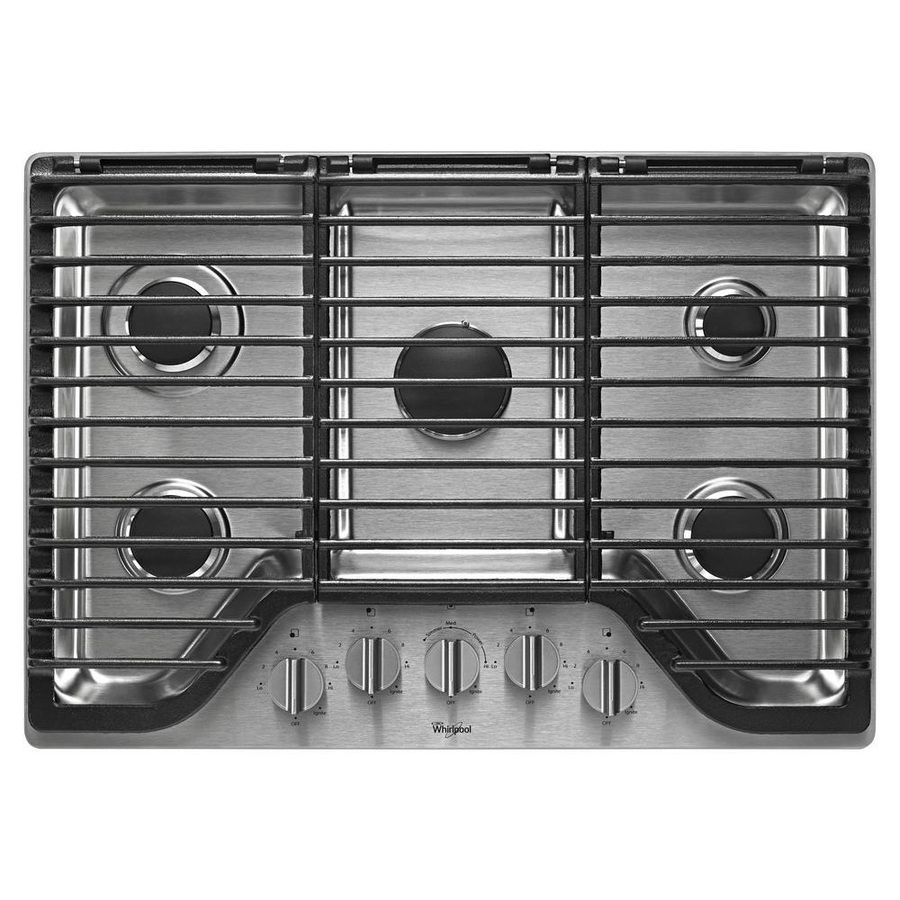 Shop Whirlpool 5-Burner Gas Cooktop (Stainless Steel) (Common: 30-in; Actual: 30-in) at Lowes.com