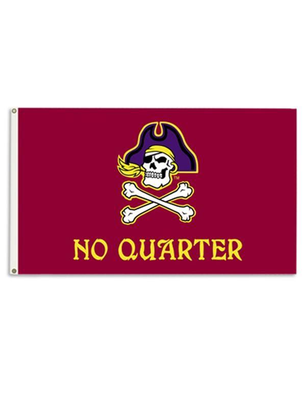 Jolly Roger No Quarter Banner Flag East Carolina Pirates No Quarter Ecu Pirates