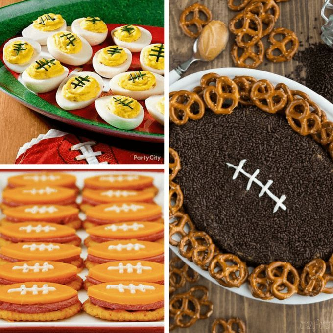 Football food ideas: 25 fun football foods to serve at your Super Bowl party.