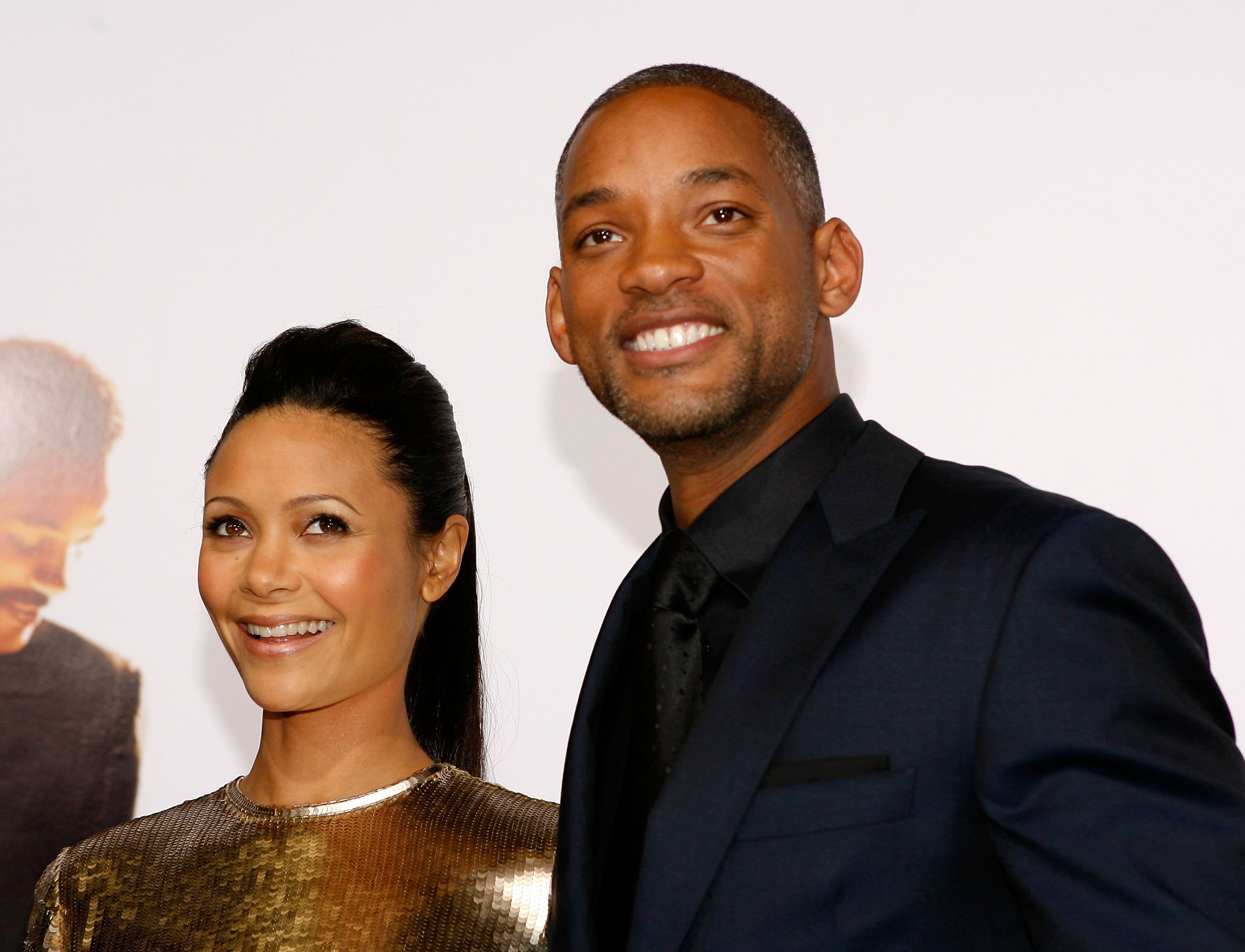 Thandie Newton And Will Smith At The 2006 Premiere Of The Pursuit