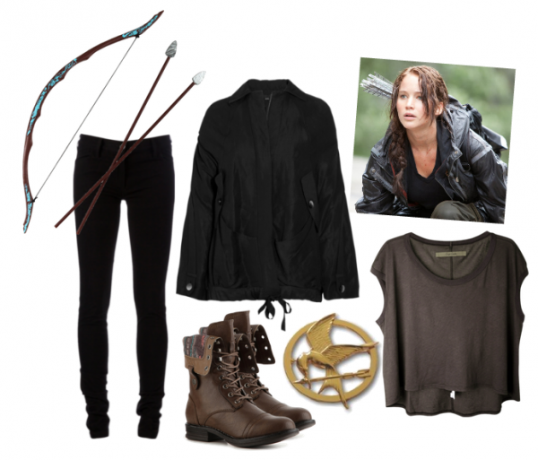 Katniss Everdeen Costume Adult The Hunger Games Halloween Fancy Dress