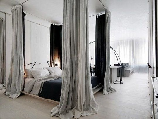 12 Ways to Create a \u0027Bedroom\u0027 in a Studio Apartment | Apartment Therapy : canopy-bed-studio-apartment - designwebi.com