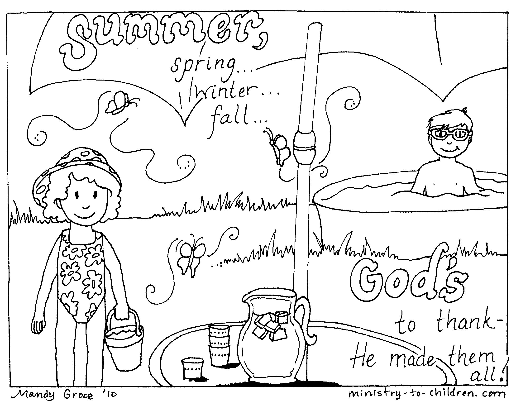 summer coloring page Bible Coloring