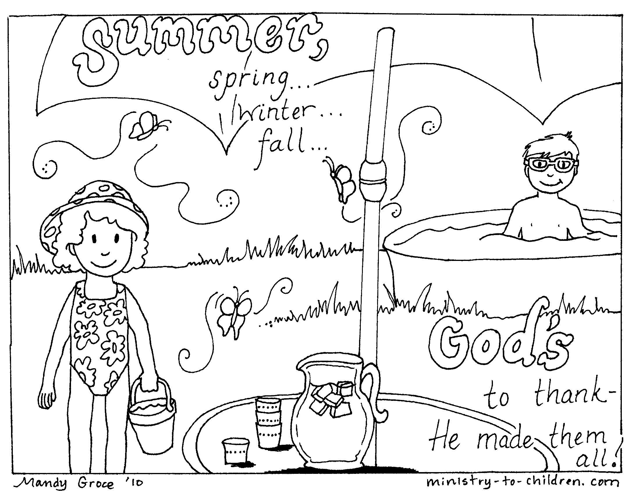 Summer Coloring Page Summer Coloring Pages Summer Coloring Sheets Bible Coloring Pages