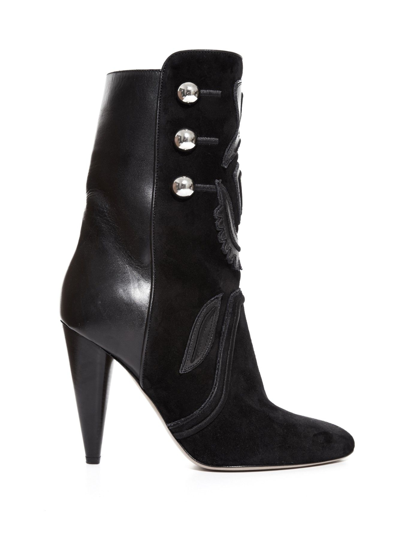 Liv suede and leather ankle boots | Isabel Marant | MATCHESFASHION.COM US