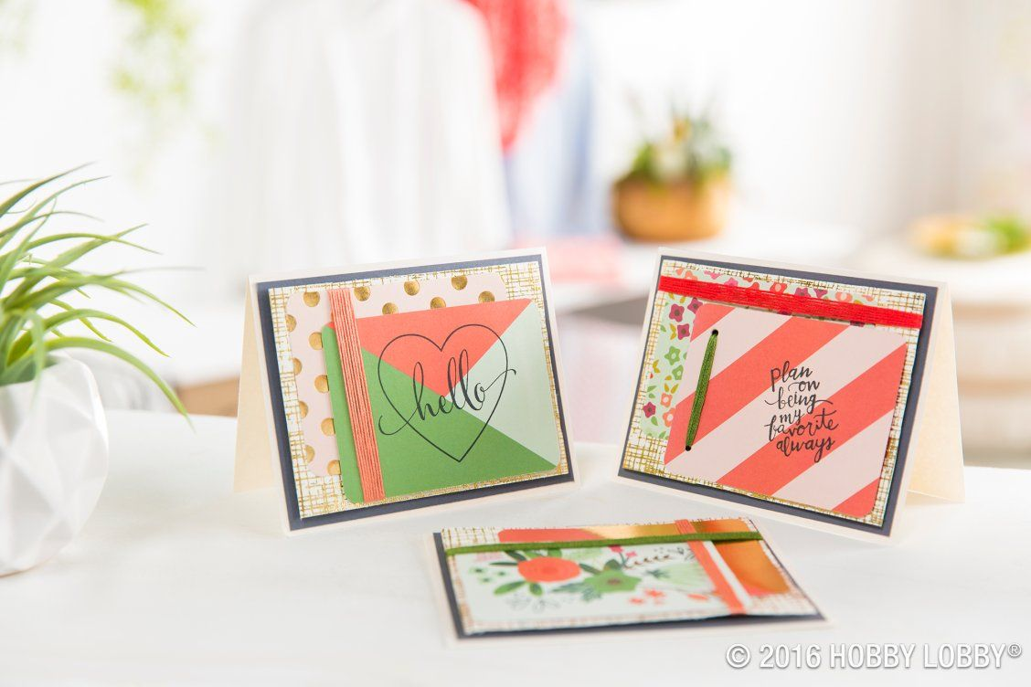 Make your greeting card a strand slam with handmade