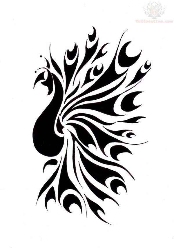 Tribal Peacock Tattoo Design Sample Peacock Tattoo Peacock Drawing Feather Tattoo Arm
