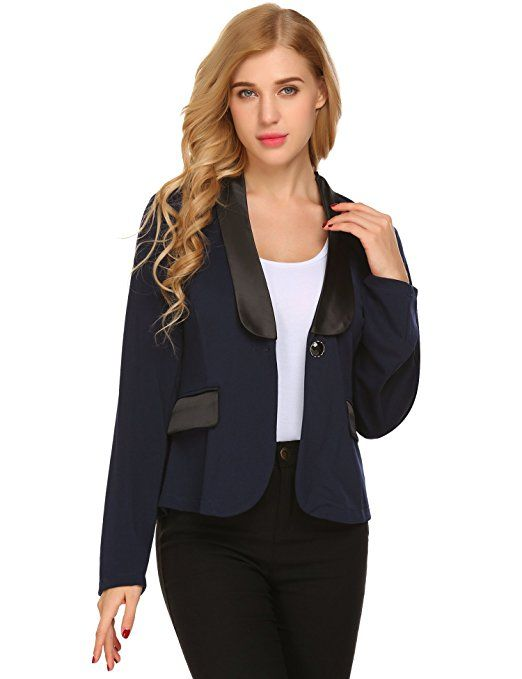 8a87556452b7 Beyove Blazer Damen Anzug Elegante Business Blazer Jacke Casual Kurzer  Blazer Mit Taschen Herbst Winterjacke