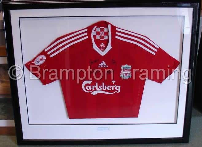 Liverpool Football Shirt Framing Professional Football Shirt
