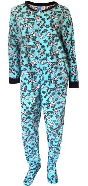 Disney Frozen's Olaf The Snowman Plus Size One Piece Pajama ...