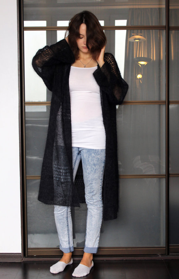 3db65d61ac Oversized mohair cardigan loose hand knitted cardigan sweater long jacket  summer mohair sweater coat