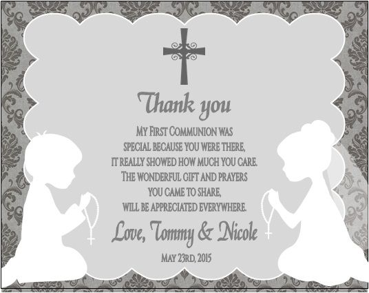 Greeting Cards & Party Supply Personalized First Holy Communion girl cards Thank you