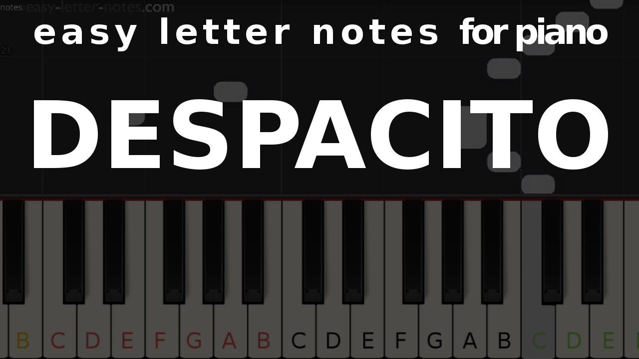 Despacito Easy Letter Notes For Piano Sheets Scores Note