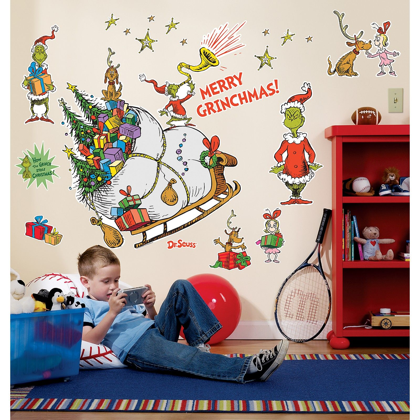 Grinch giant wall decals 68080 its a whoville christmas christmas decor grinch giant wall decals amipublicfo Choice Image