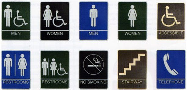ADABraille Signs Graphics Pinterest Ada Signs - Ada bathroom signs