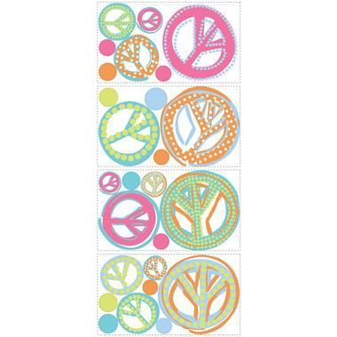 Kids Book Girls Peace Signs Appliques RMK1437SCS
