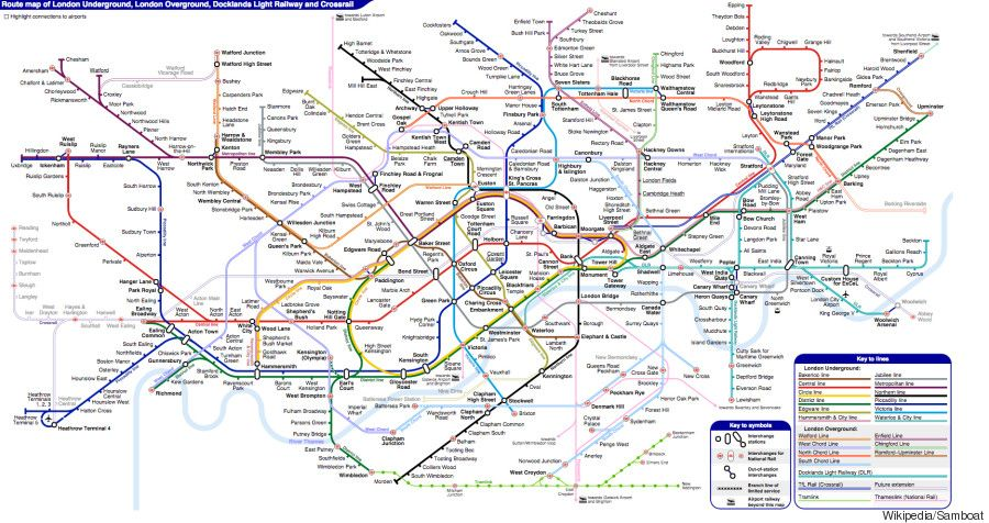 london underground unofficial tube map is even better than the real thing